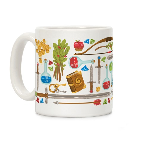 Fantasy RPG Adventurer Kit Coffee Mug