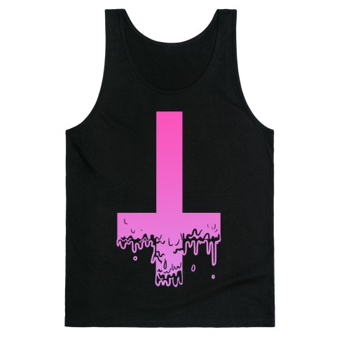 Cross Drip- Pink Tank Top