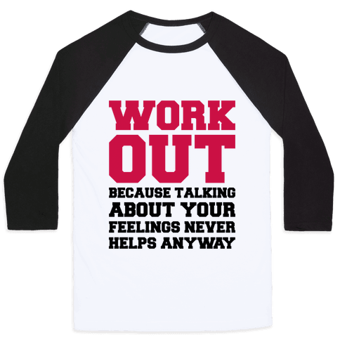 Work Out Baseball Tee
