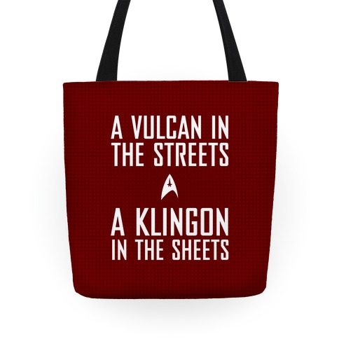 A Vulcan In the Streets (Red) Tote