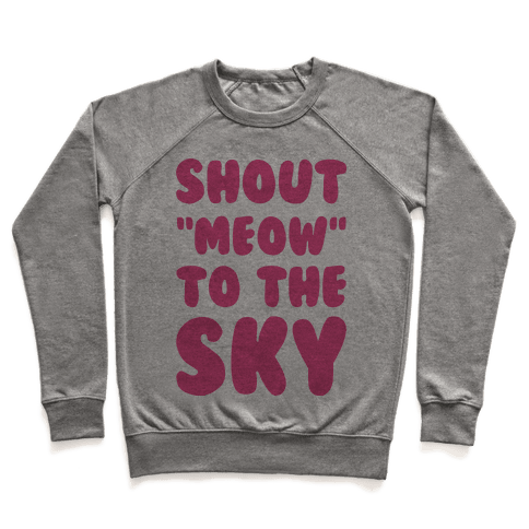 Shout Meow to the Sky Pullover