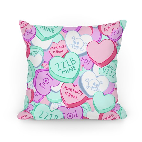 Sherlock Valentines Hearts Pillow