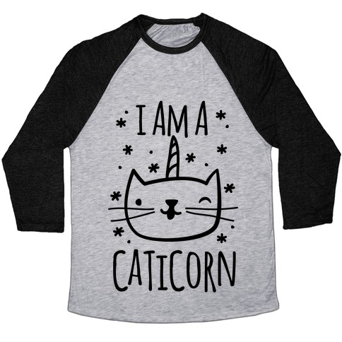 I Am A Caticorn Baseball Tee