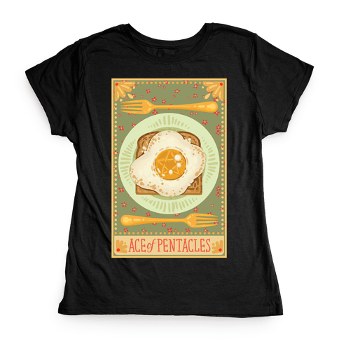 Tarot Card: The Egg Of Pentacles Womens T-Shirt
