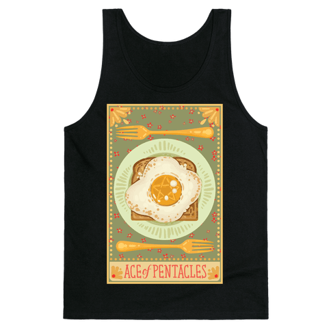 Tarot Card: The Egg Of Pentacles Tank Top