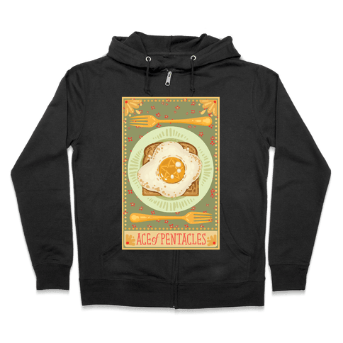 Tarot Card: The Egg Of Pentacles Zip Hoodie