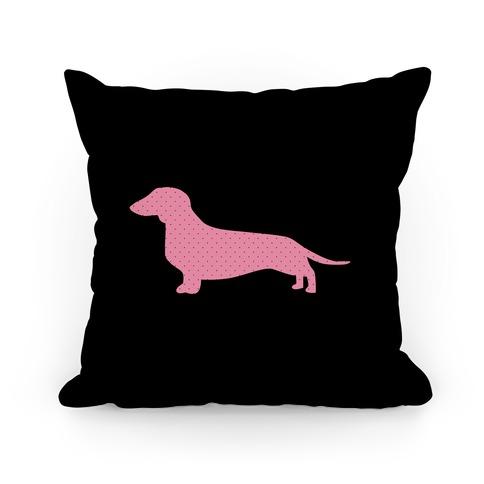 Pink Polka Dot Wiener Dog