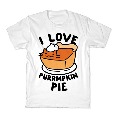 I Love Purrmpkin Pie Kids T-Shirt