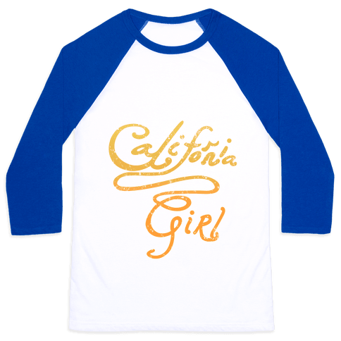 California Girl (Mermaid Vintage) Baseball Tee
