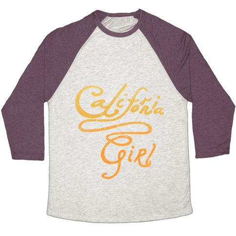 California Girl (Mermaid Vintage) Baseball Tee