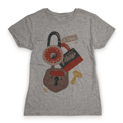 Paris Love Locks Womens T-Shirt