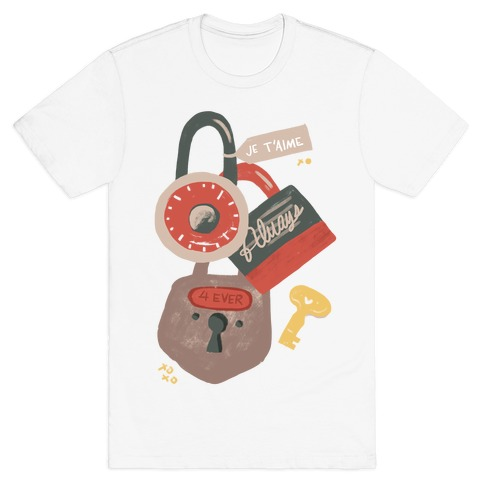 Paris Love Locks Mens T-Shirt
