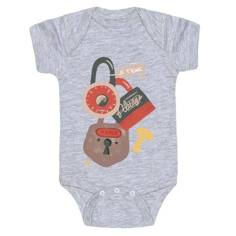 Paris Love Locks Baby Onesy