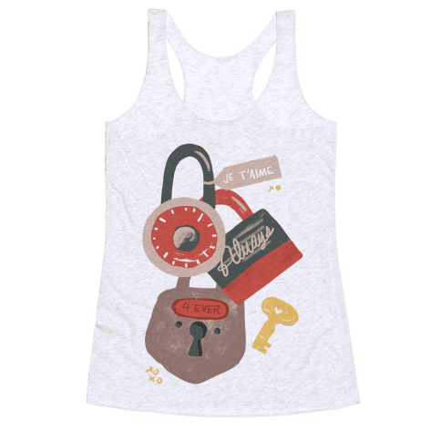 Paris Love Locks Racerback Tank Top