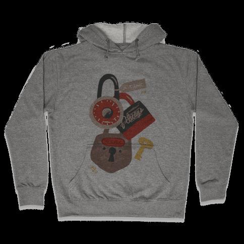 Paris Love Locks Hooded Sweatshirt