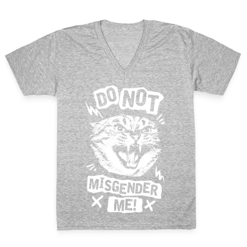 Do Not Misgender Me V-Neck Tee Shirt