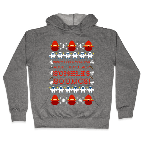 Yukon Cornelius and Bumble Ugly Sweater Hooded Sweatshirt