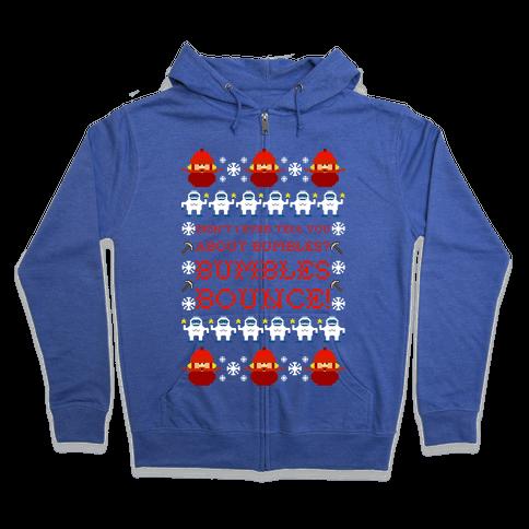 Yukon Cornelius and Bumble Ugly Sweater Zip Hoodie