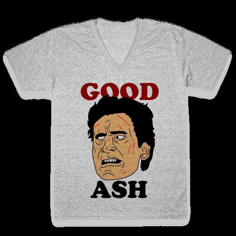 Good Ash Couples Shirt V-Neck Tee Shirt