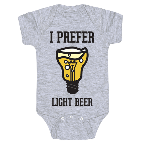 Light Beer Baby Onesy
