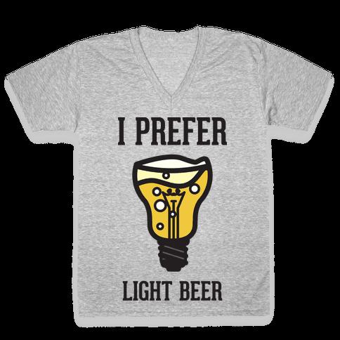 Light Beer V-Neck Tee Shirt