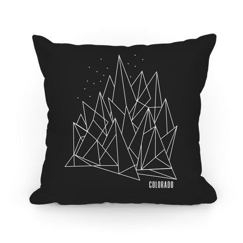 Colorado Mountains Pillow