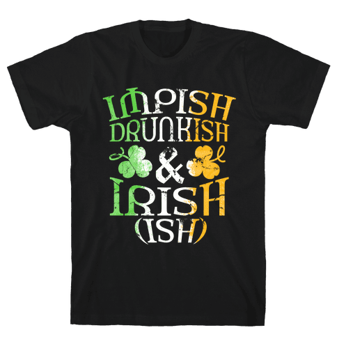 Irish ish (flag) Mens T-Shirt