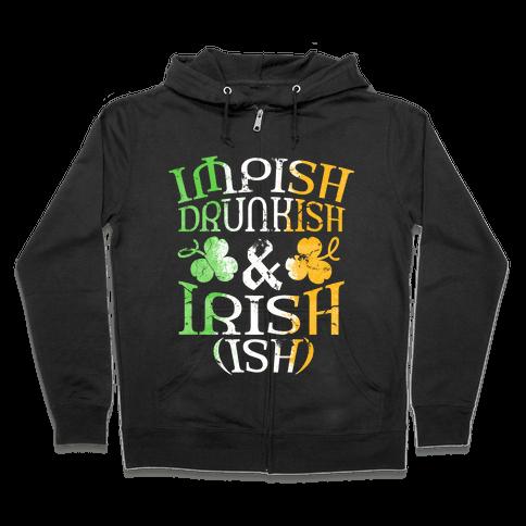 Irish ish (flag) Zip Hoodie