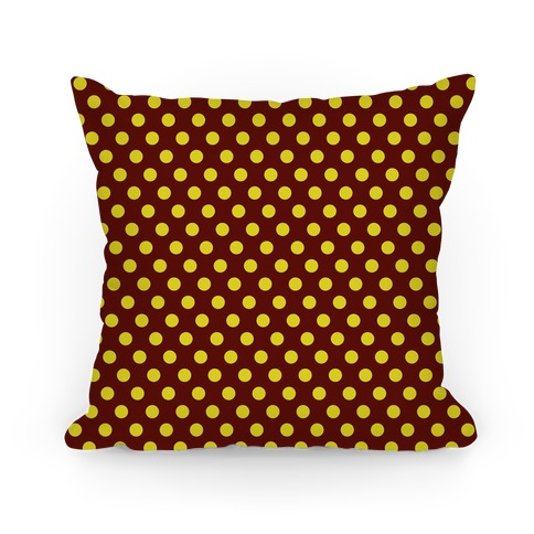 Gryffindor House Polka Dot Pattern Pillow