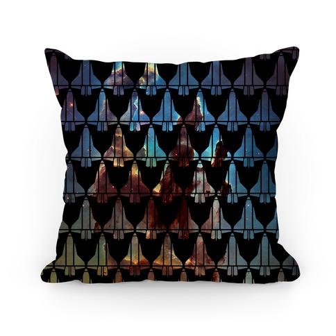 Eagle Nebula Space Race Pattern Pillow