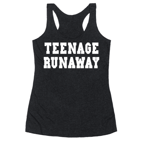 Teenage Runaway (Harry Shirt) Racerback Tank Top