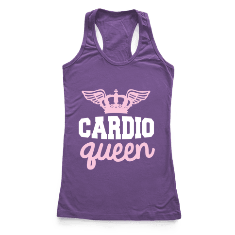 Cardio Queen Racerback Tank Top