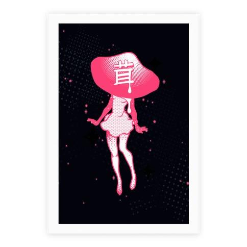 Mushroom Girl Poster