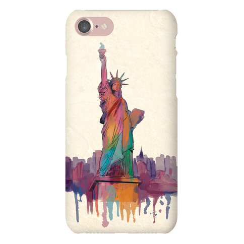 Lady Liberty Watercolor Phone Case