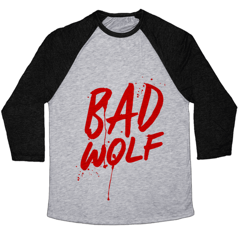 Doctor Who Bad Wolf Baseball Tee