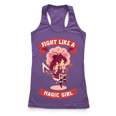 Fight Like A Magic Girl Parody Kyoko Racerback Tank Top