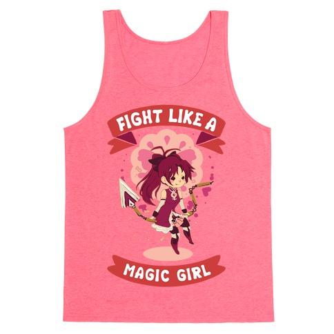 Fight Like A Magic Girl Parody Kyoko Tank Top