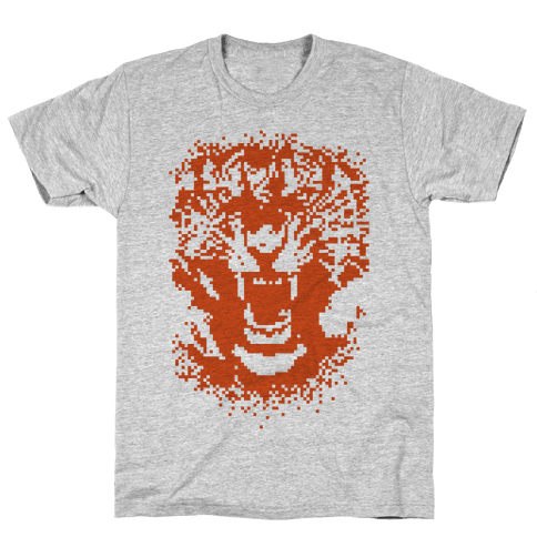 Pixel Tiger Mens T-Shirt