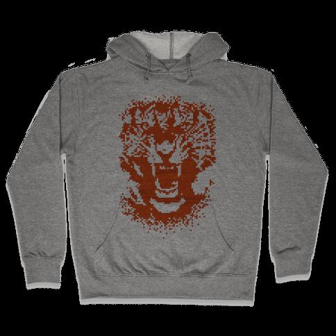 Pixel Tiger Hooded Sweatshirt