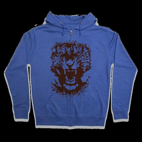 Pixel Tiger Zip Hoodie