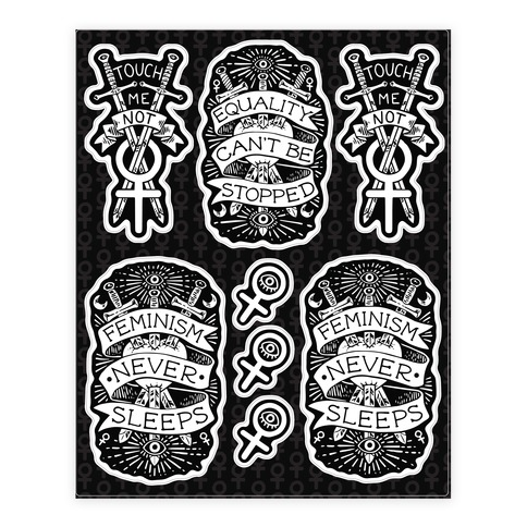 Occult Feminist Sticker and Decal Sheet