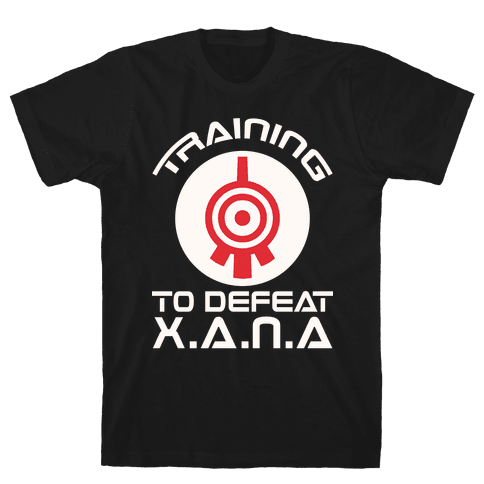 Training To Defeat XANA Mens T-Shirt