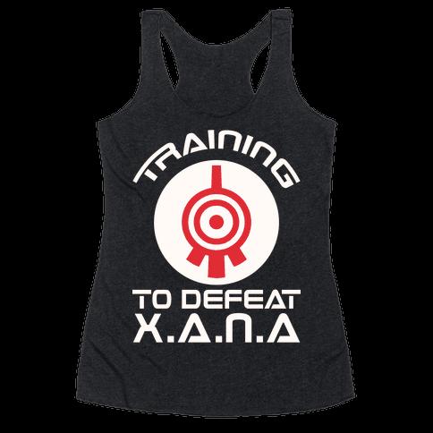 Training To Defeat XANA Racerback Tank Top