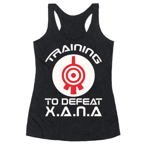 Training To Defeat XANA Racerback Tank Top