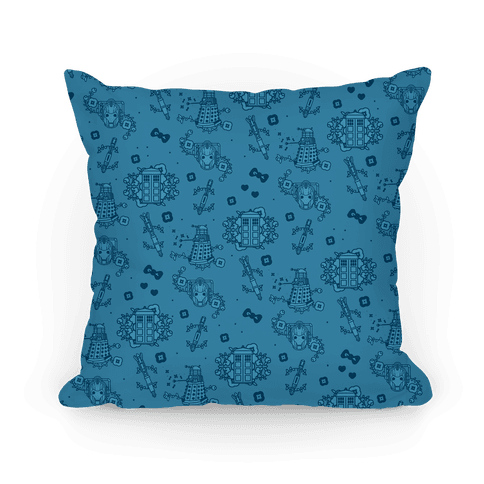 Doctor Who Pattern Toile Pillow