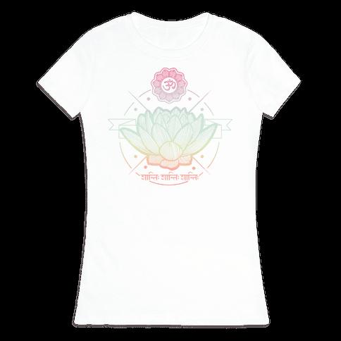 Om Shanti Shanti Shanti Womens T-Shirt