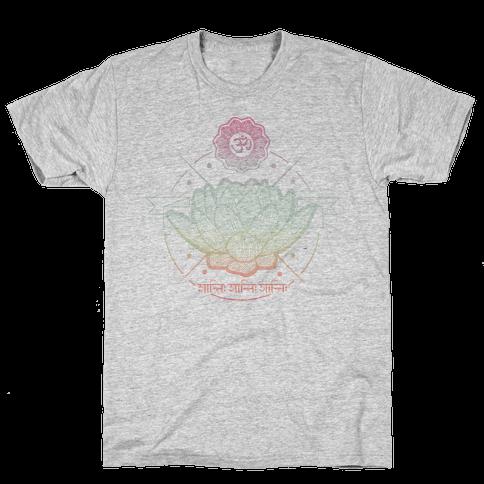 Om Shanti Shanti Shanti Mens T-Shirt