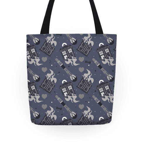 Doctor Who Pattern Tote Tote
