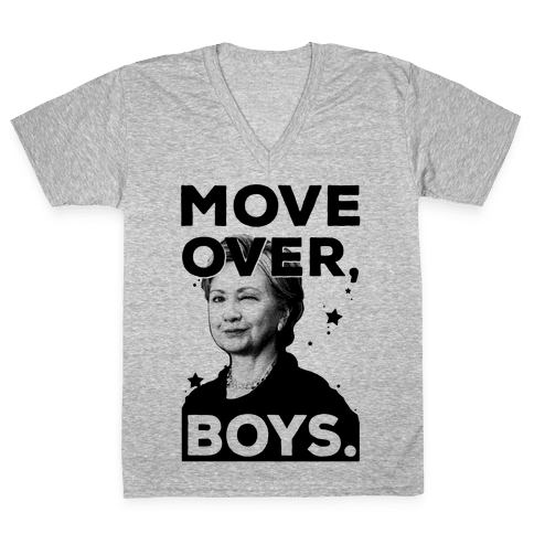 Move Over Boys ( HRC ) V-Neck Tee Shirt