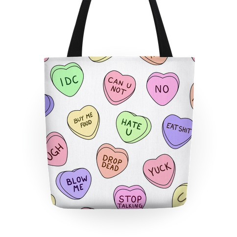 Conversation Hearts Tote